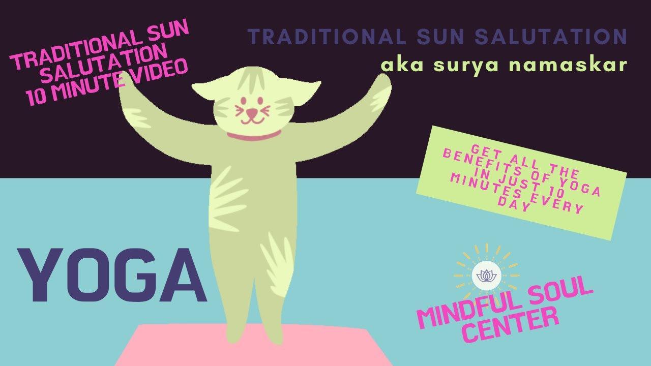 50 Minute Yoga Traditional Surya Namaskar aka Sun Salutation